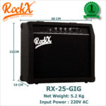 RockX Guitar Amplifier RX-25-GIG